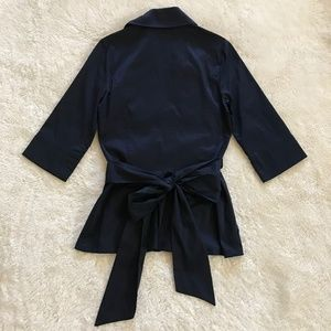 Diane Von Furstenberg Tops - Diane Von Furstenberg Navy Wrap Blouse Pockets 4